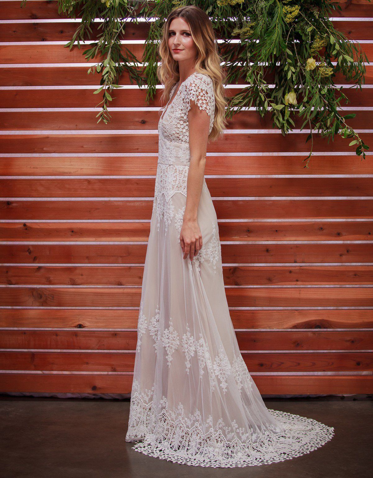 Dreamersandloversazalealacebohemianweddingdresscottonlace