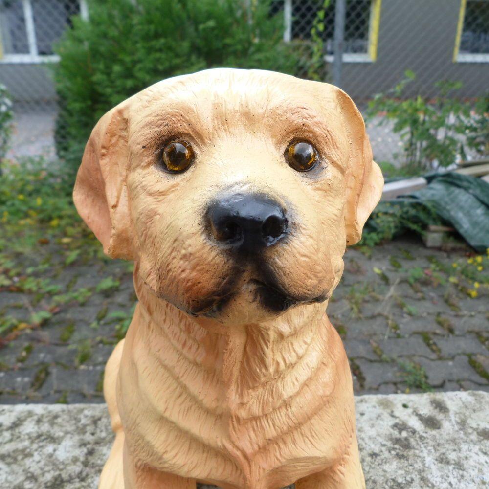 Retrieverwelpe Tierfiguren Hundefigur Welpe Gartenfigur