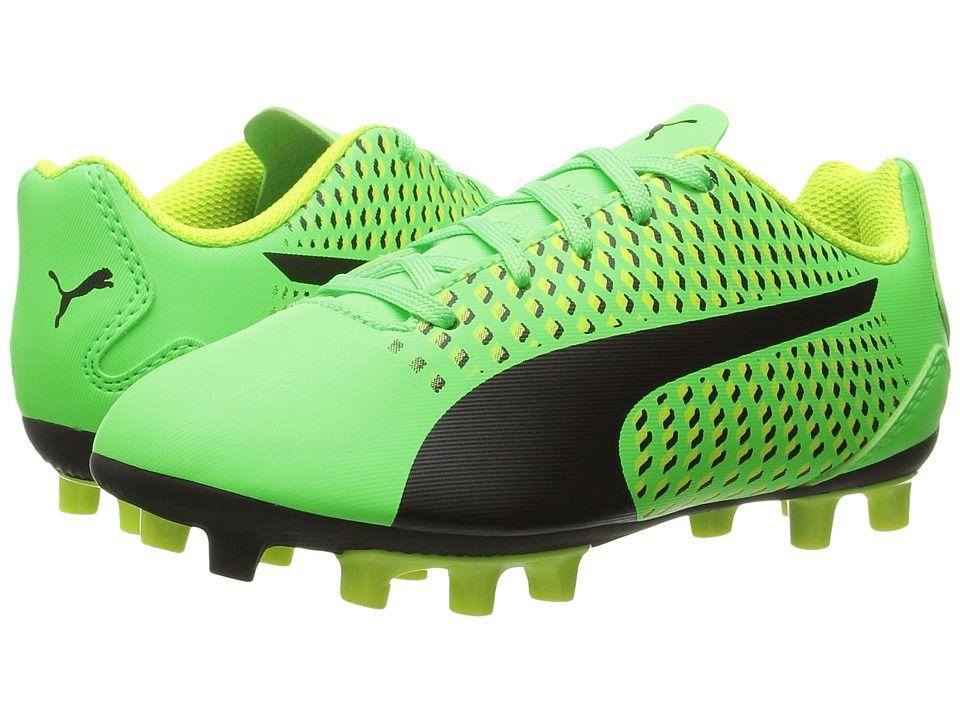 7165bfa54 Puma Kids Adreno III FG Jr Soccer (Toddler Little Kid Big Kid) Kids Shoes  Green Gecko Puma Black Safety Yellow