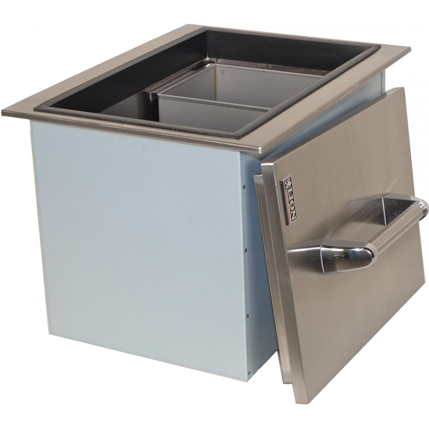 Lion Drop In Ice Bin With Condiment Tray Stainless Steel