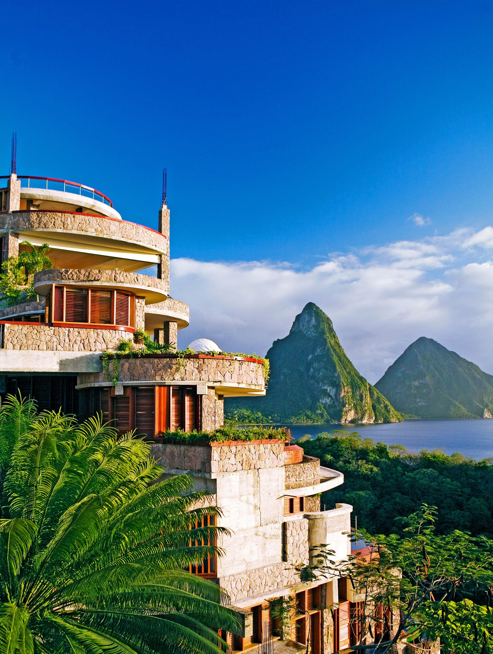 Escape to Jade Mountain St Lucia  Jade mountain resort