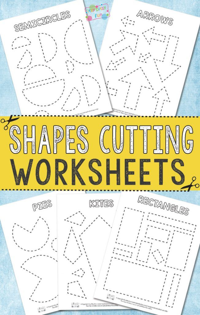Cutting Shapes Worksheets | I love to print | Pinterest | Shapes ...