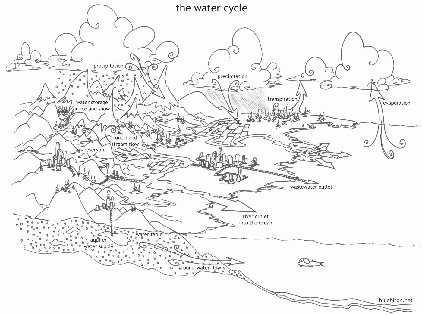 Water Cycle Coloring Page New Lunamama The Water Cycle