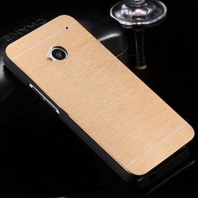 For HTC M7 M8 M9 Fashion Slim Aluminum Metal Plastic Hybrid Case For HTC One M7 M8 M9 Durable Slim Shock Proof Phone Back Cover