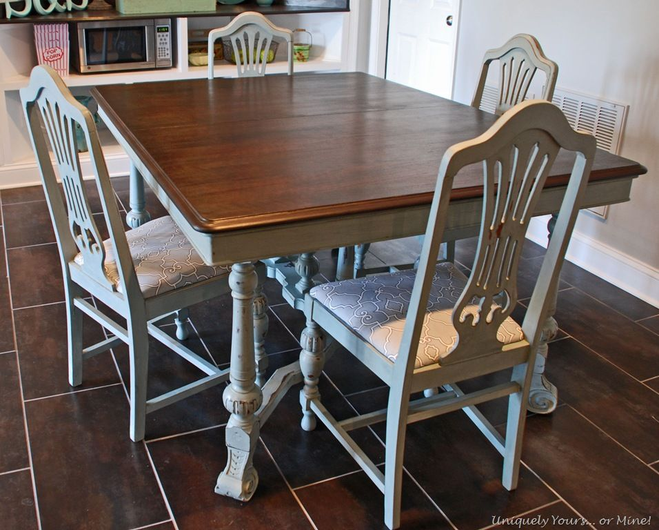 Vintage Dining Table Refinishing Tutorial Vintage Dining Table