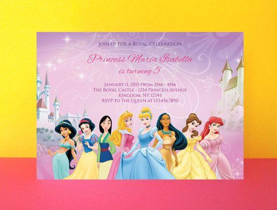 Disney Princess Birthday Invitation Editable Pdf Printable Instant Download Princessparty Party