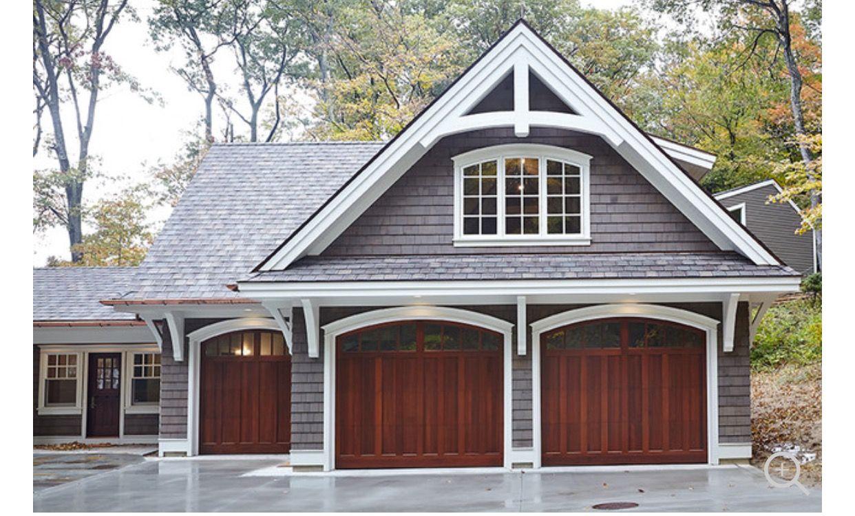 Pin By Jenny Whitten On Ranch Turned Craftsman Garage Door Design Garage Doors Garage Exterior