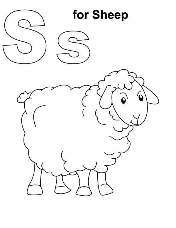 S Is For Shaun The Sheep Coloring Page
