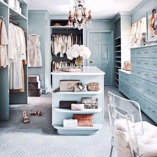 Pretty Pale Blue Dressing Room House And Home Magazine Closet