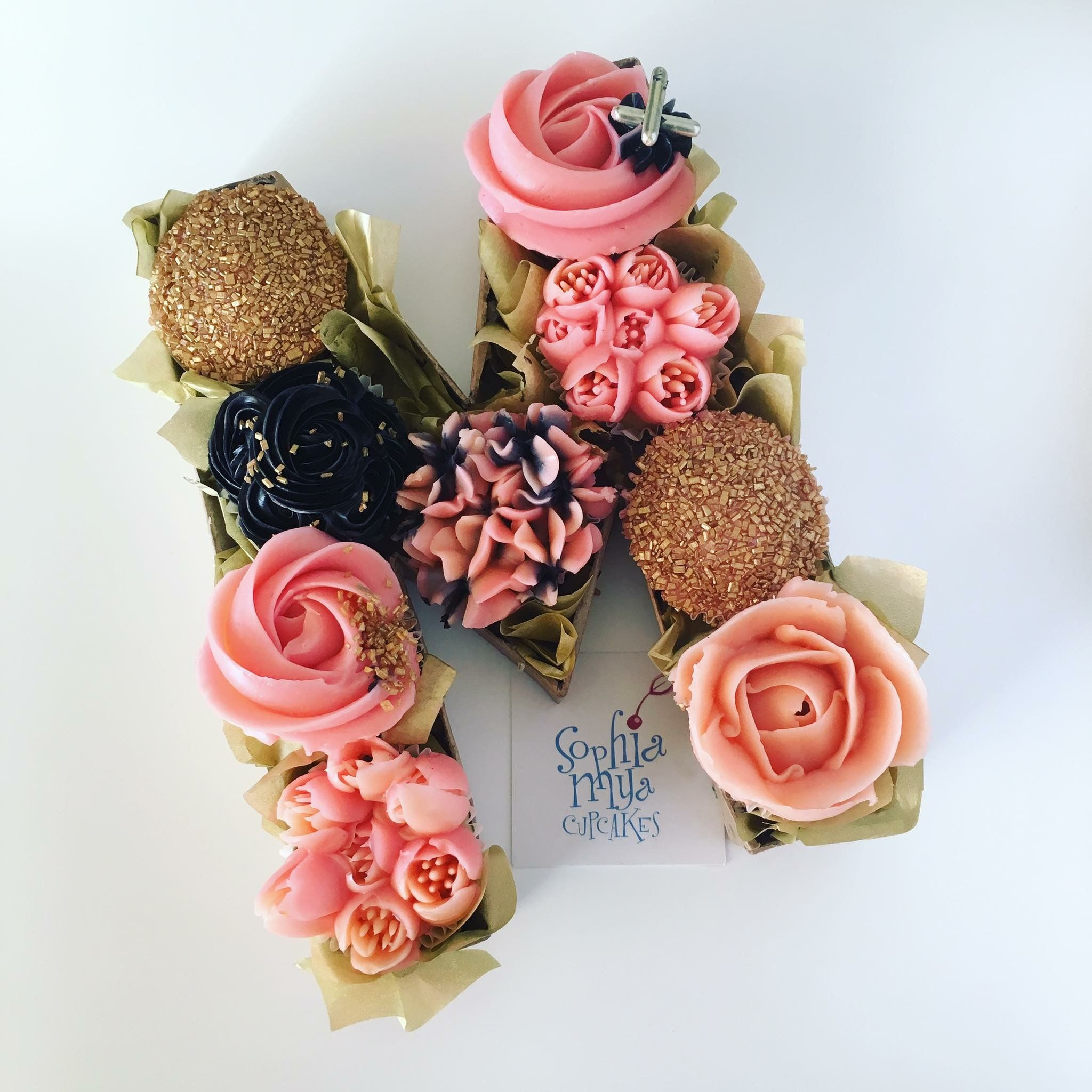 Cupcake monogram concept design by sophia mya cupcakes cakes cupcake artistnina sophiamyacupcakes instagram photos and videos izmirmasajfo Image collections