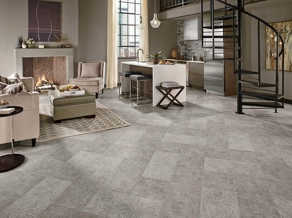 Armstrong Luxury Vinyl Tile Flooring LVT Gray 12x24