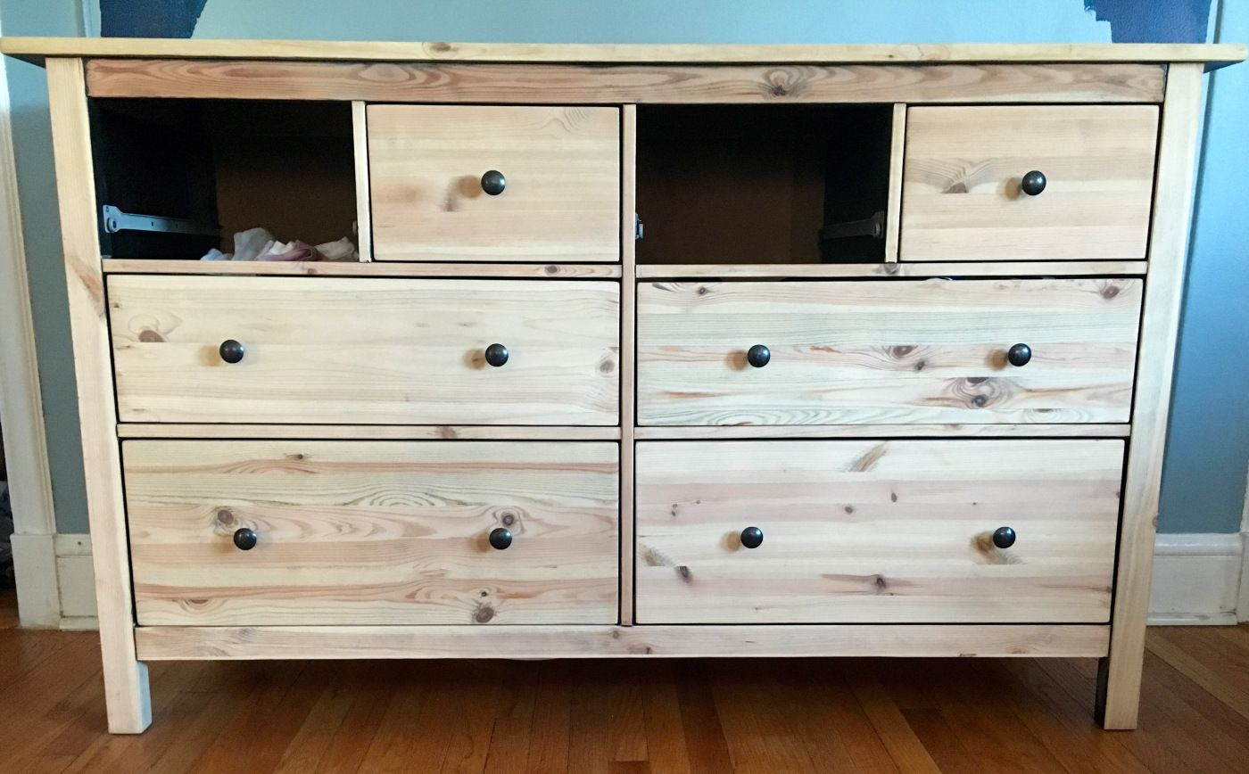 Ikea hemnes dresser turned midcentury modern hemnes