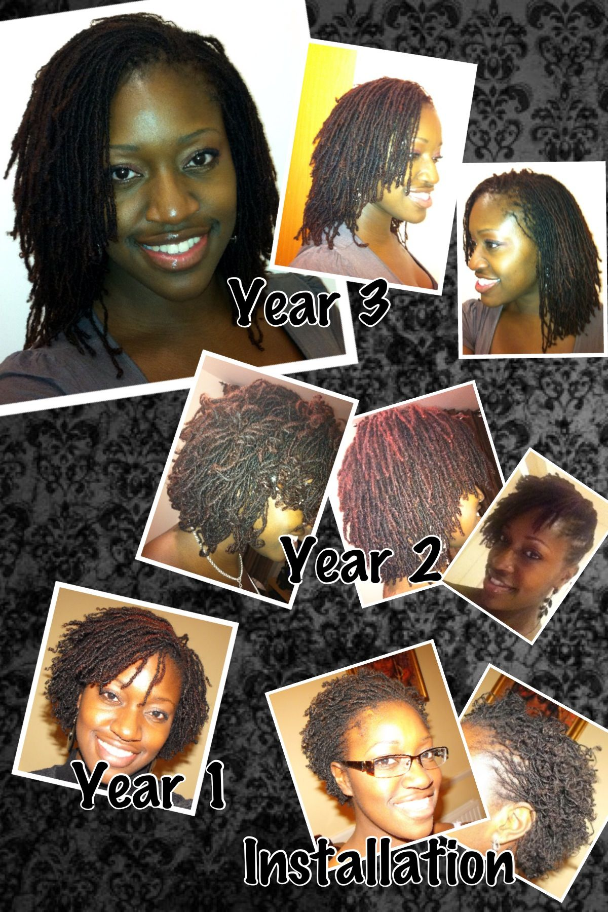 Happy anniversary to my hair. I've had Sisterlocks for 3 years and absolutely love them. Go team natural :-)