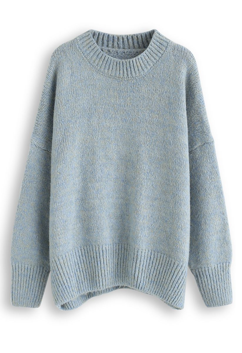 Loose Soft Knit Sweater in Turquoise green S M in 2020