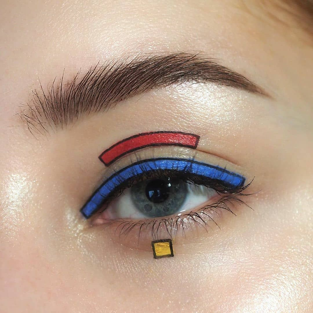 "MakeUp Coyote on Instagram: ""Primary! Simple! Good! ❤️💙💛⁣ -⁣ credit : @geminiblush 💗 follow : @makeup.coyote 💮 • Use #MakeupCoyote, Follow Me & Tag me in posts to get…"""