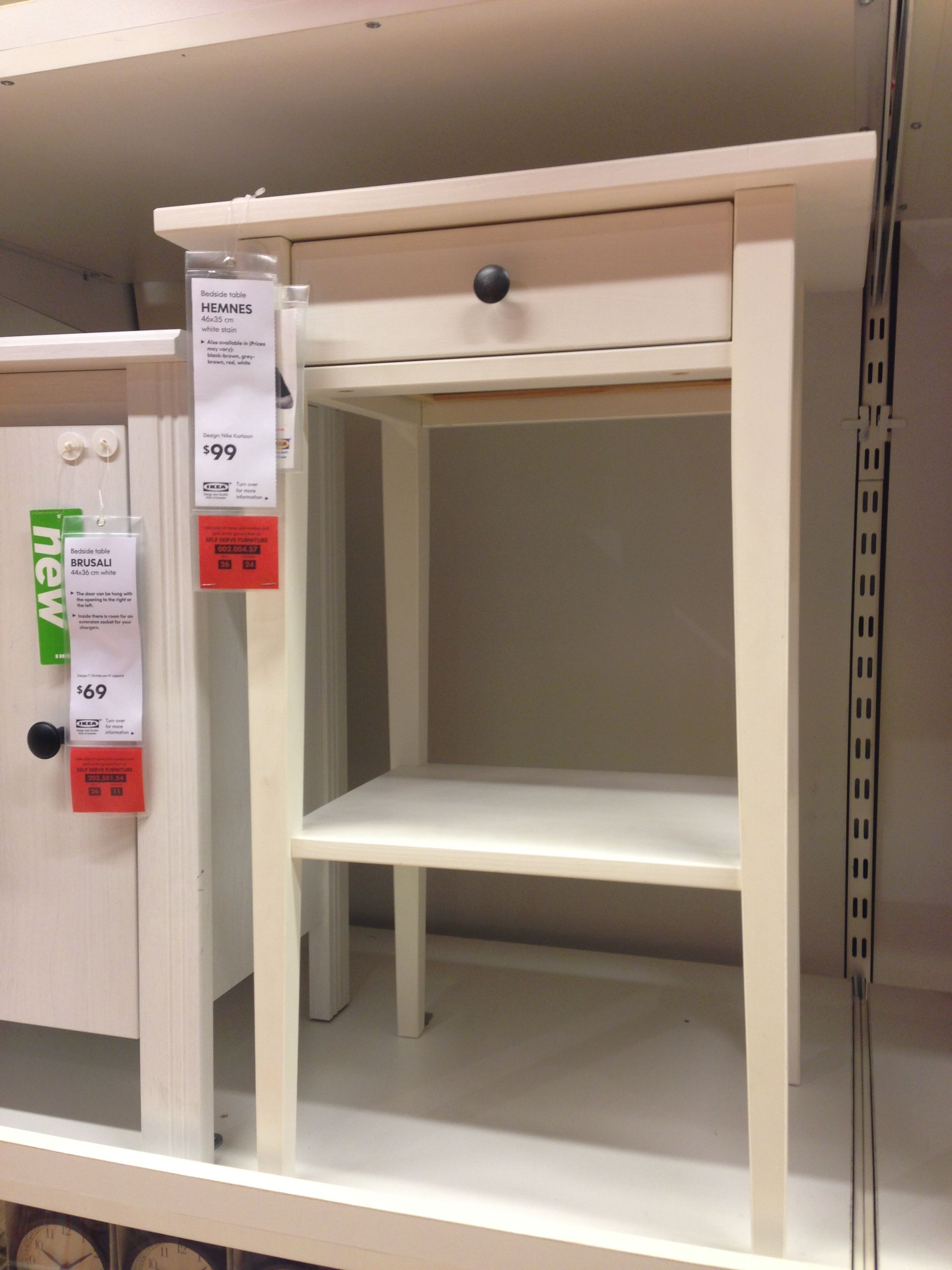 I want this side table for my bathroom to place a plant & store soap etc (Ikea)