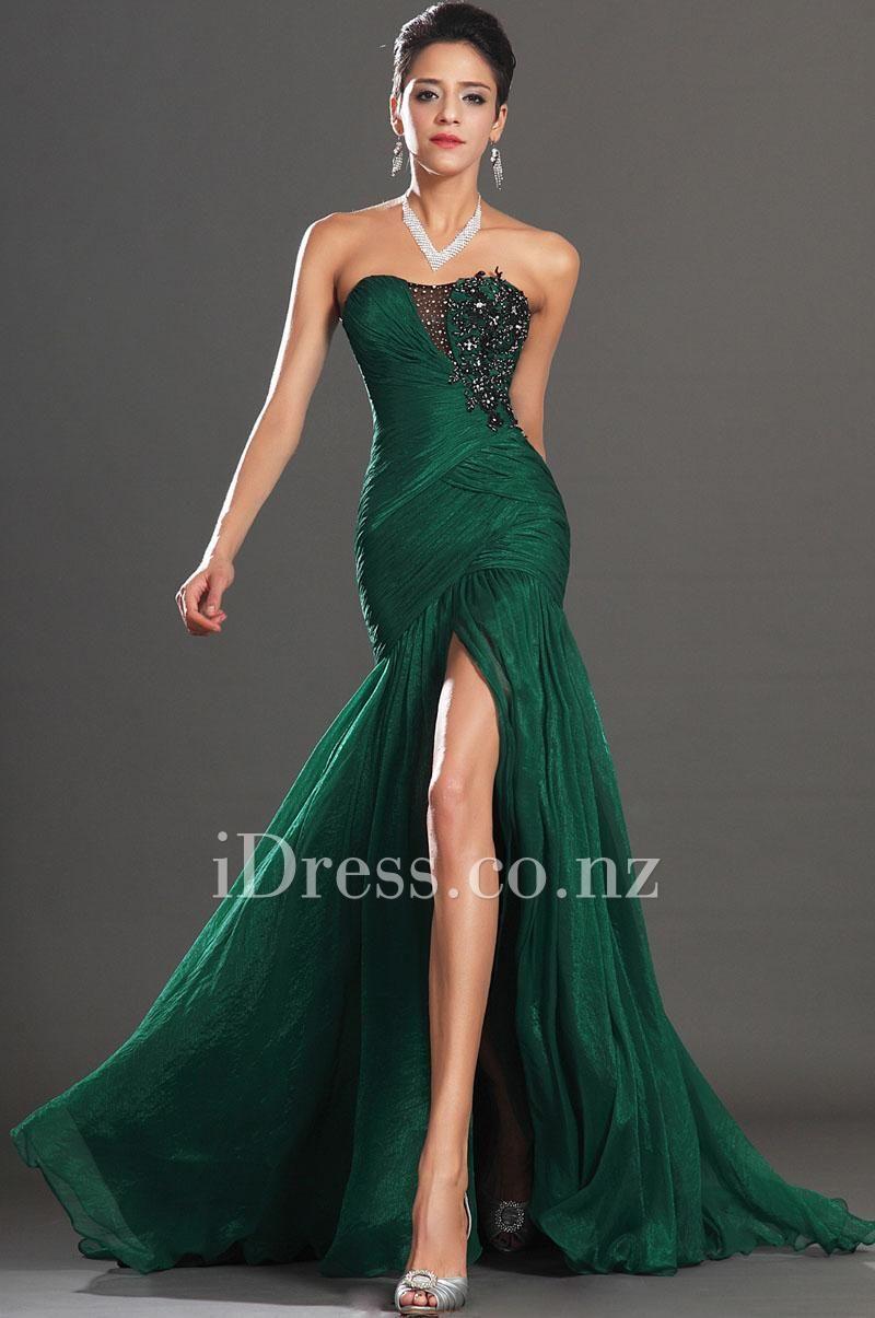 Green evening dress nzs