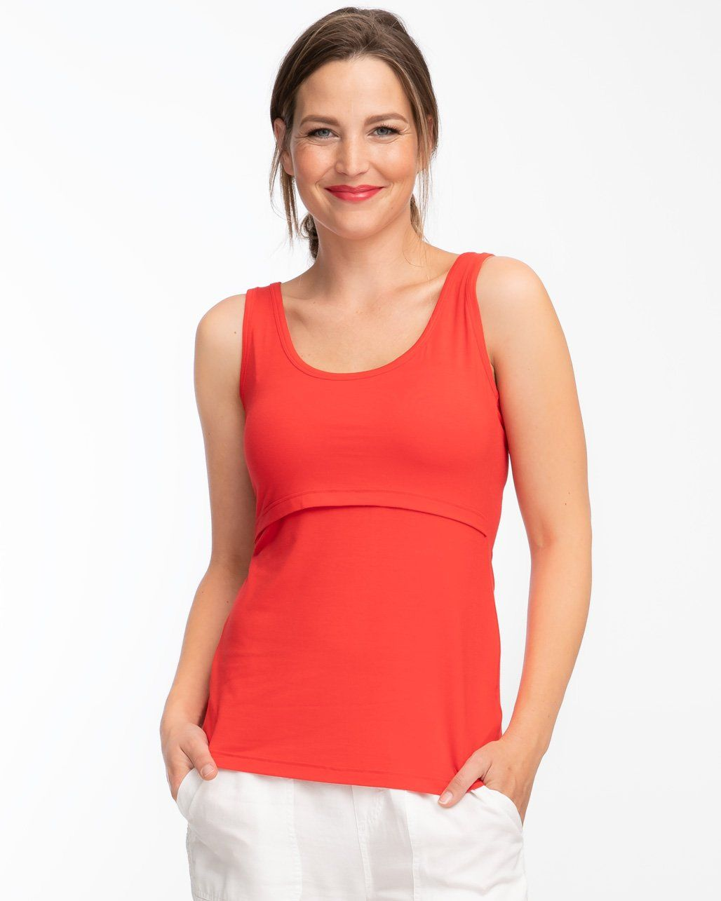 1a93adbcbf Candy Red Nursing Tank in 2019 | Products | Nursing tank, Red candy ...