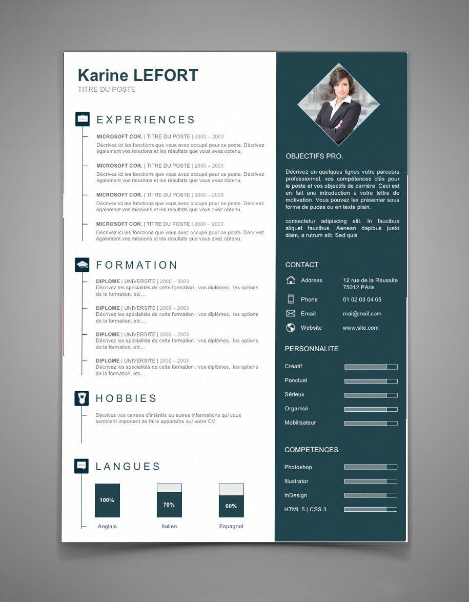 Présentation CV 67 | Maxi CV | CV indesign example | Pinterest ...