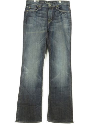 59.39$  Buy here - http://visec.justgood.pw/vig/item.php?t=66h8f0k949 - NEW! 7 FOR ALL MANKIND Women Blue Dark Wash Boot Cut Jeans Pants Size 30