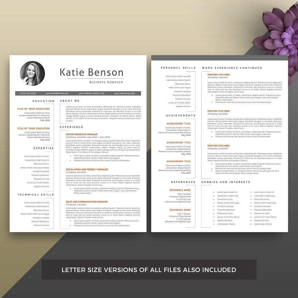 Professional Resume/CV Template. #Mac#Word#MS#purchase ...