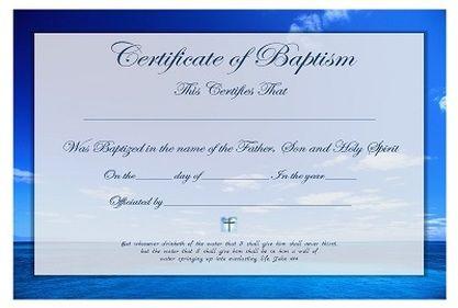free baptismal certificates template - Google Search | Baptismal ...