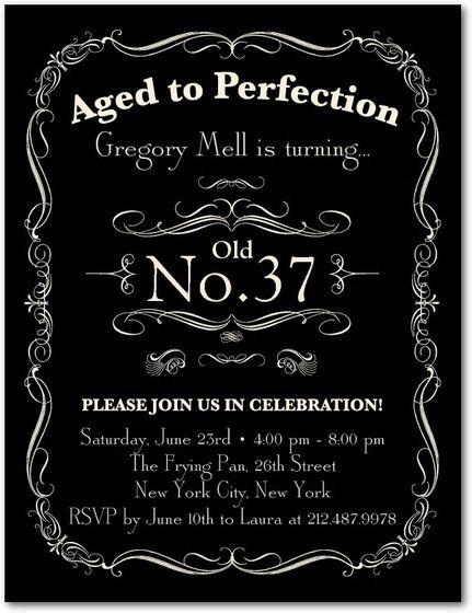 Adult Birthday Party Invitations Postcard