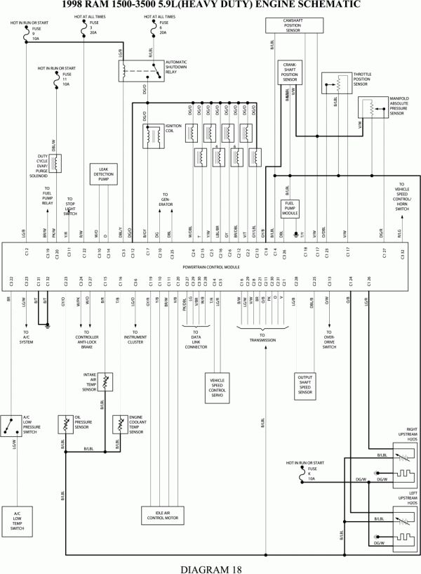 16  98 Dodge Ram Check Engine Light Wiring Diagram Engine