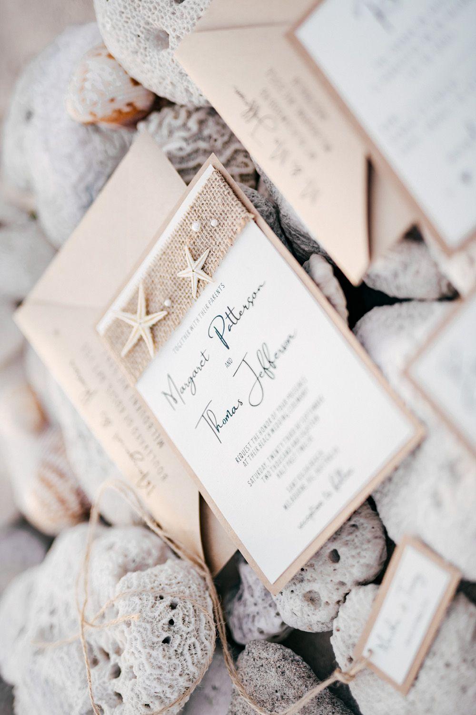WEDDING INVITATIONS beach/marine | Beach wedding invitations, Beach ...