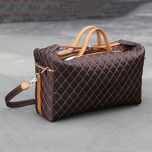 52e6edf71a5 Mens NEW Arrival Quilted Travel Weekend GYM Duffle BAG Laptop Briefcase  Satchel   eBay