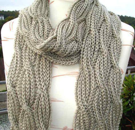 Reversible Cabled Brioche Stitch Scarf Brioche Knitting Patterns