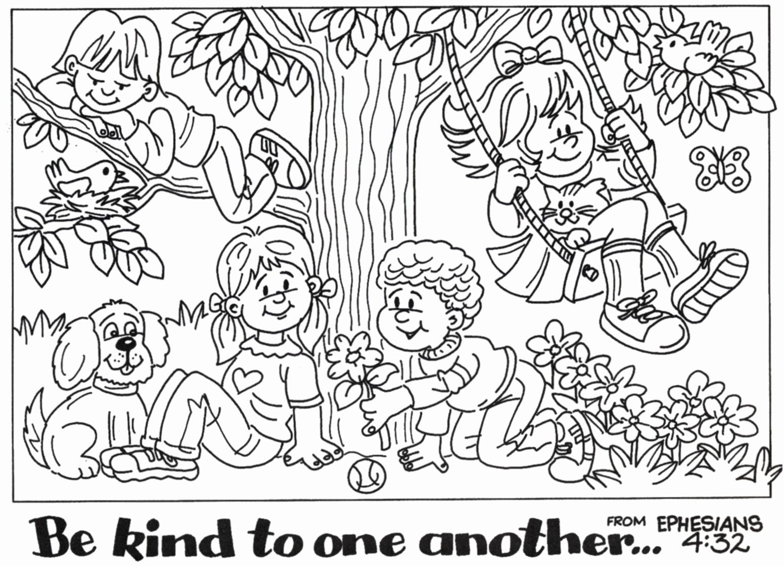 Love One Another Coloring Page Unique Poster Be Kind To One Another In 2020 Bible Coloring Pages Bible Coloring Christian Coloring