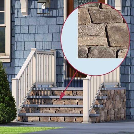photoshop redo cottage style for a boxy cape stone veneer stone