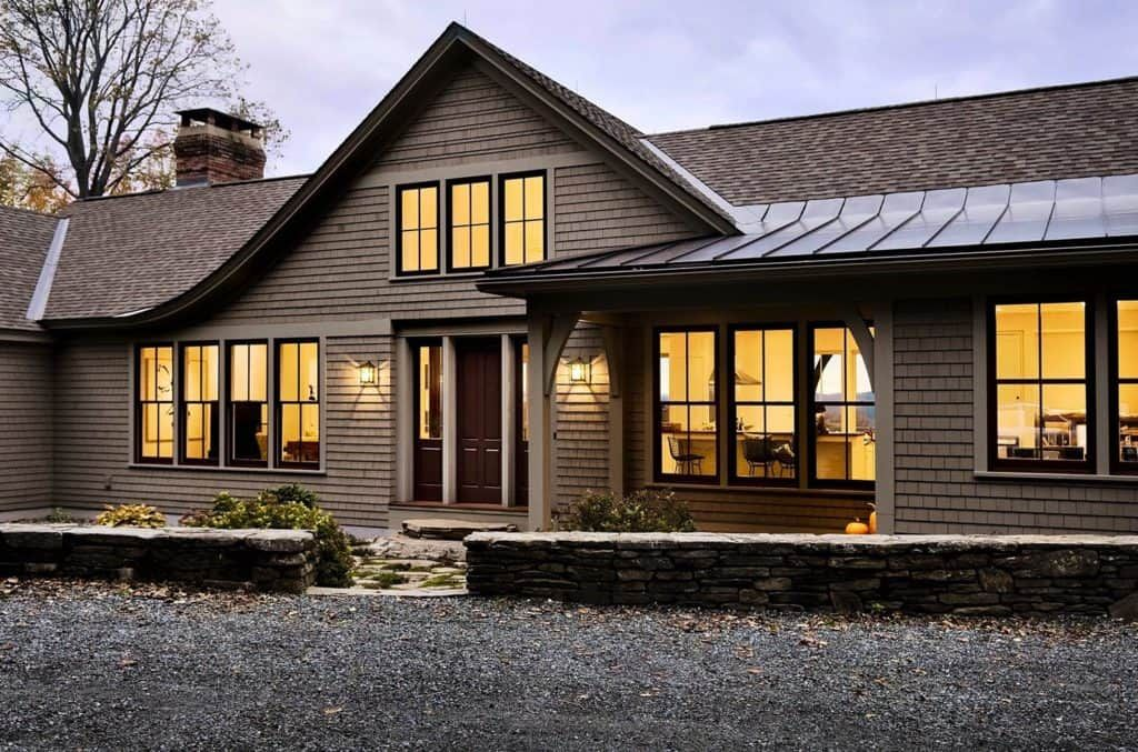 Serene Hillside Home With Sweeping Views Of New Hampshire Countryside In 2020 Modern Roofing Shed Roof Shed Roof Design