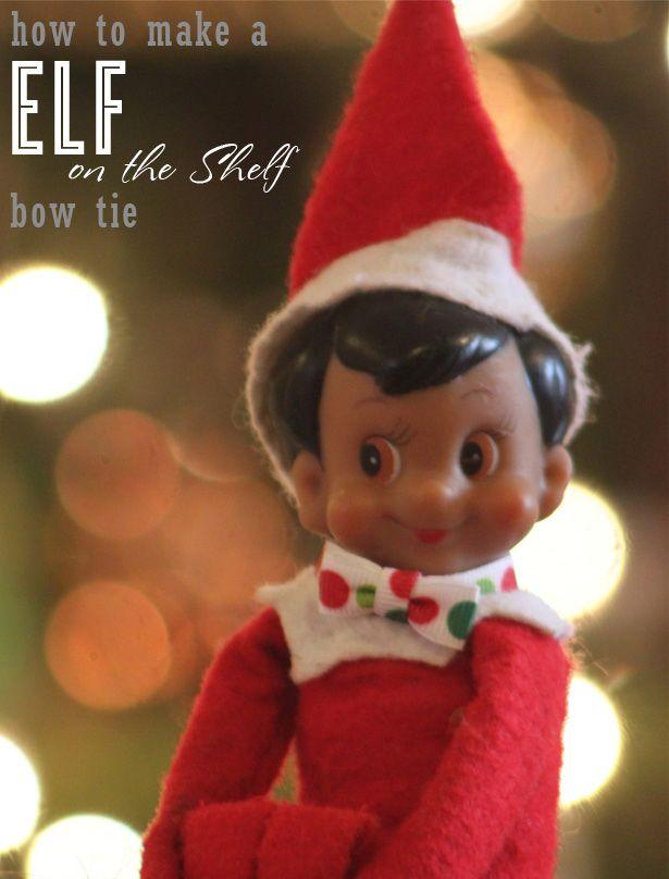 d28ac12786 DIY elf on the shelf bow tie tutorial