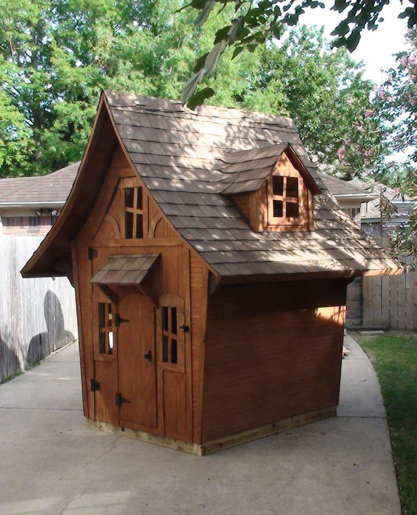 Storybook Cottage 2 Playhouse / Storage Shed Plans