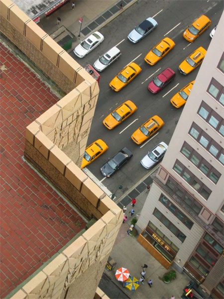 Looking Down From The New Yorker Hotel -- New York Pictures