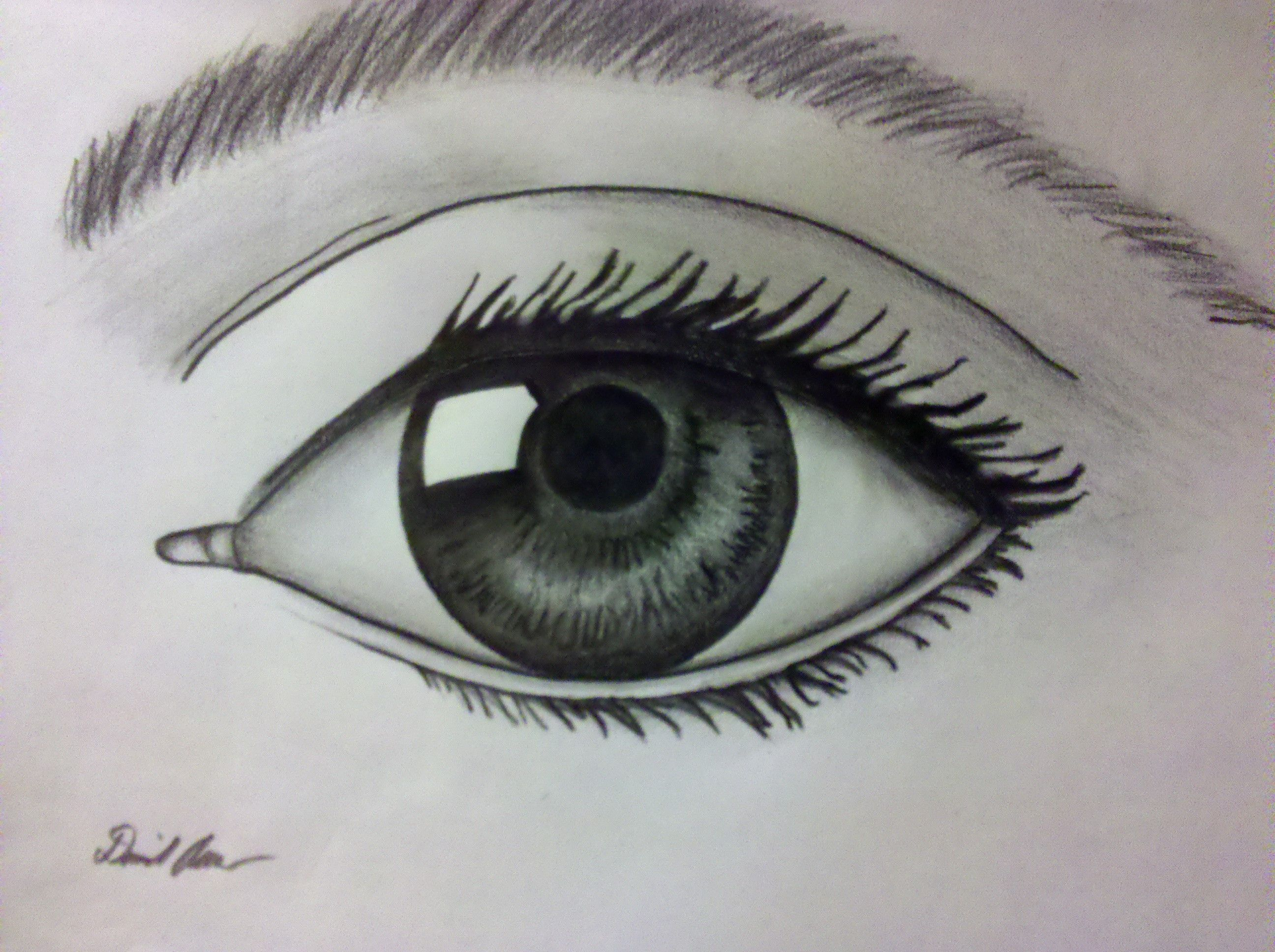 Eyes Drawing Crying Pencil Sketch