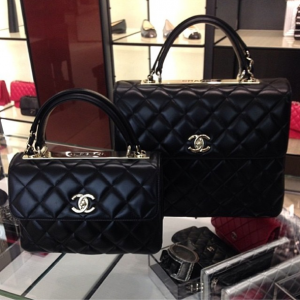Chanel Black Trendy CC Dual Handle Small Large Flap Bags  30ba0c08aaddc