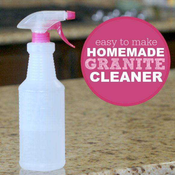 Homemade Granite Cleaner How To Clean Granite Countertops