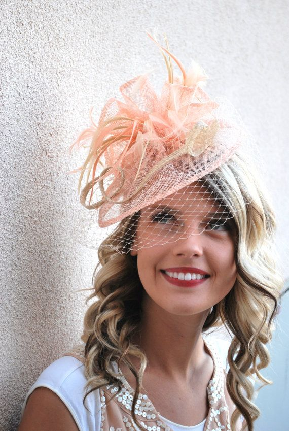 a8a2840625a Sinamay Fascinator with feathers and satin headband. The Olive Rayne  Perfect Piece for a wedding