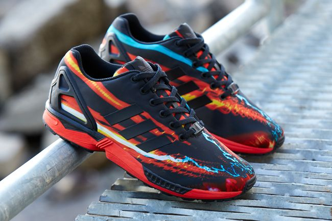 adidas zx flux red galaxy- OFF 59