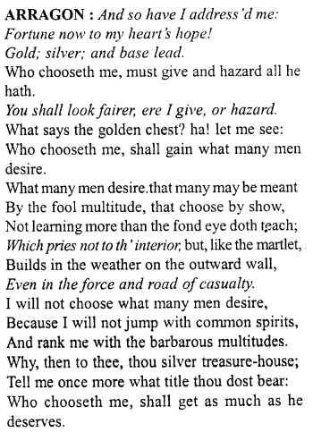 Merchant Of Venice Workbook Answer Act 2 Scene 9 27 Http Www Aplustopper Com Acting Paraphrase Pdf Download