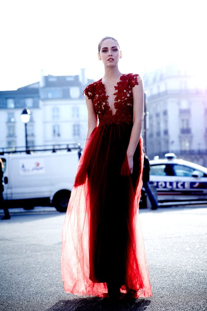 One Of My Idols Chiara Ferragni In The Most Beautiful Red Dress I Ve Ever Seen By Patricia Bonaldi Photo Andrew Arthur