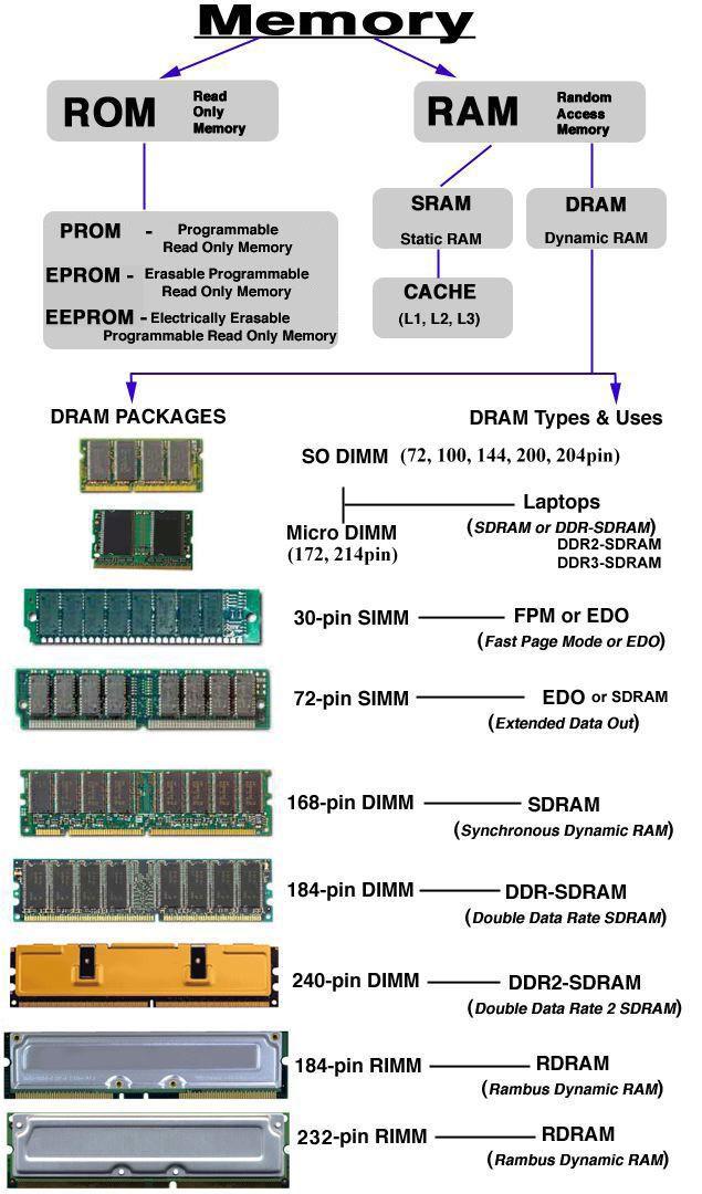 Computer Memory Types | Computer memory types and Tech support
