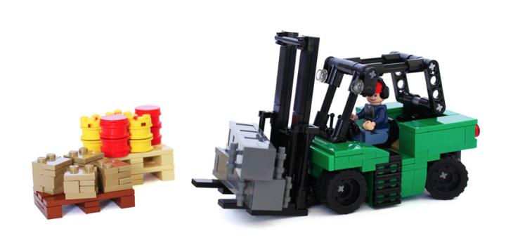 Lego Forklift Truck Lego City Pinterest Lego Lego City And