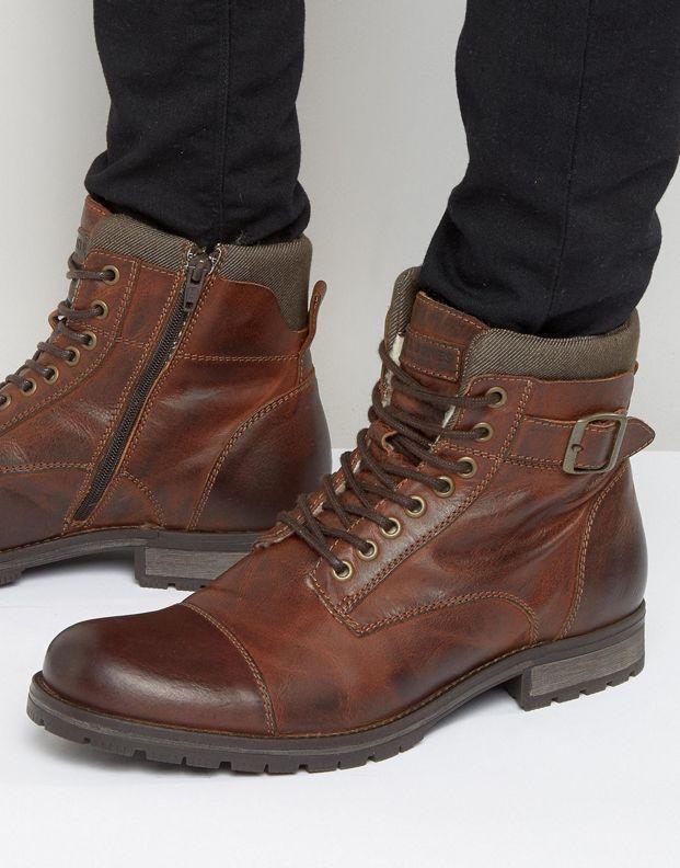95b364eb6289 Jack   Jones Albany Warm Lining Leather Boots