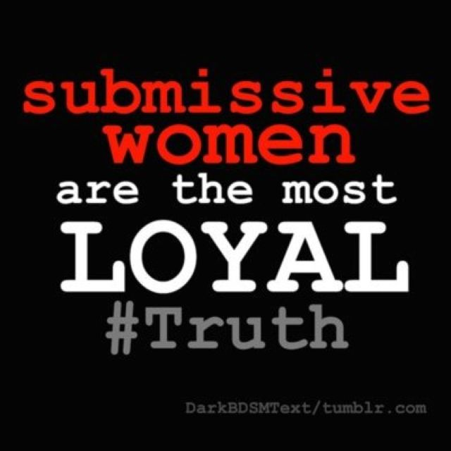 women like being submissive