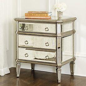 Deanna Mirrored Chest   Ballard Designs. Mirrored Side TablesBedside ...