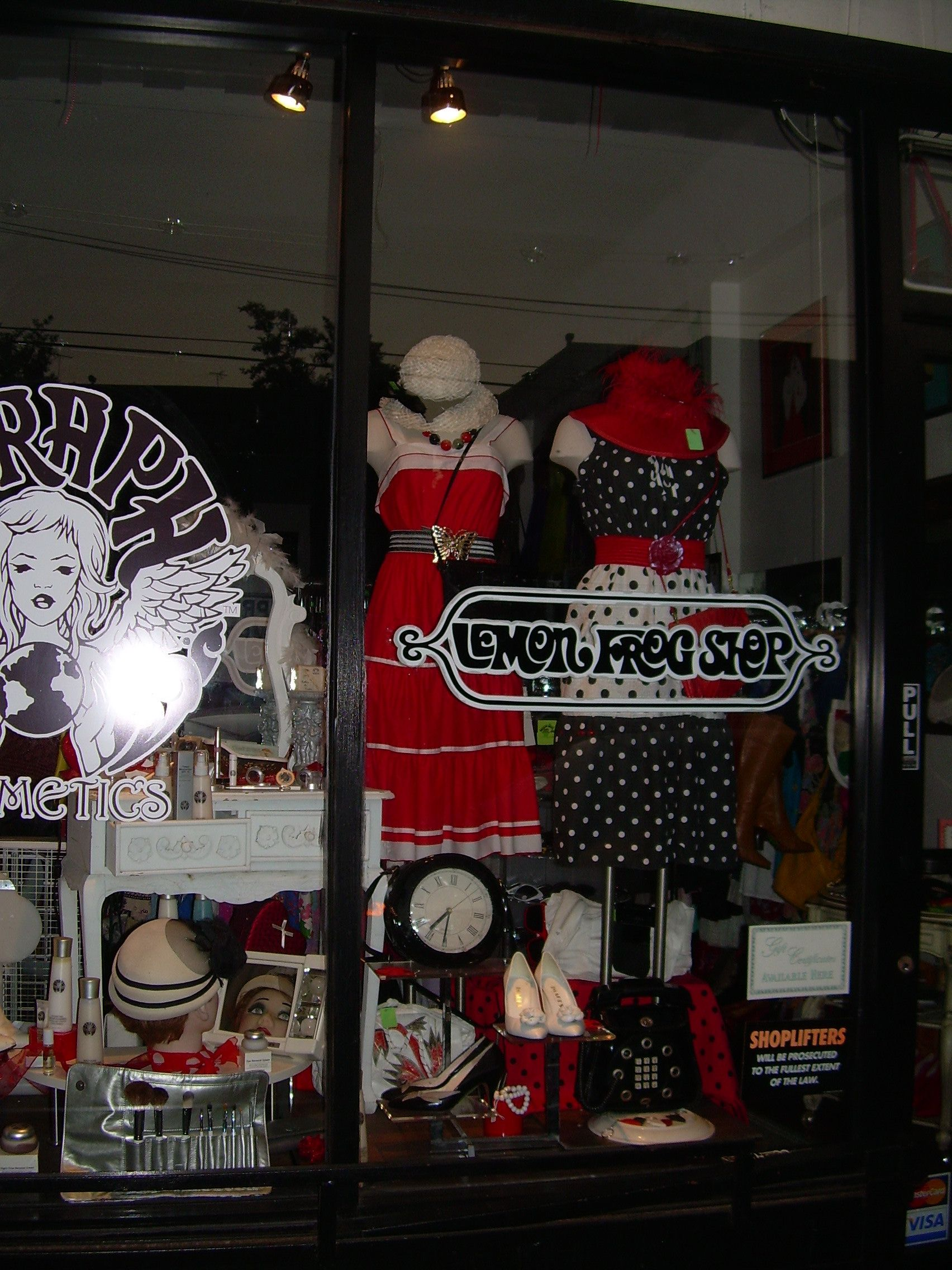 Red White And Black Window Display Vintage Shops Christmas Sweaters Black Windows